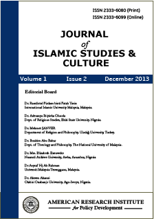 Journal of Islamic Studies and Culture (JISC)